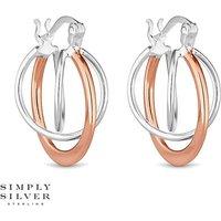Simply Silver orbit hoop earring