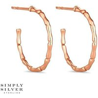 Simply Silver bamboo hoop earring