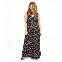 Lovedrobe Print Pleated Maxi Dress