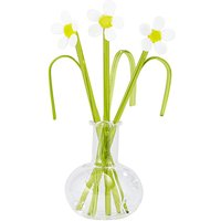 Glass Flower & Vase Ornament