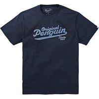 Original Penguin Script Logo T-Shirt L