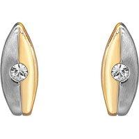 Espree Two Tone Crystal Stud Earrings
