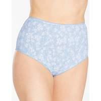10 Pack Full Fit Cotton Floral Briefs