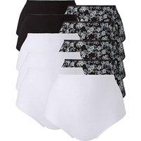 10 Pack Full Fit Black Floral Briefs