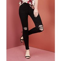 Shape & Sculpt Distressed Skinny Jeans