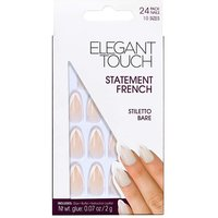 Elegant Touch French Nail Stiletto Bare
