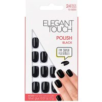 Elegant Touch Polished Core Nail Black