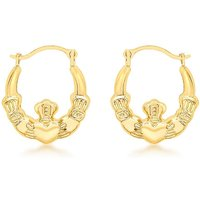 9Ct Gold Mini Claddagh Creole Earrings