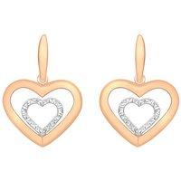 9Ct Gold Heart Earrings