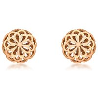 9Ct Gold Filigree Dome Earrings