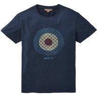 Ben Sherman Checked Target T-Shirt L