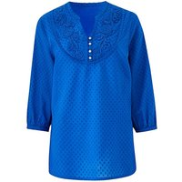 Cotton Dobby Tunic with Cornelli