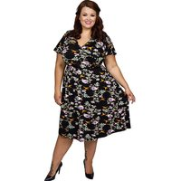 Scarlett & Jo Angel Sleeve 40s Dress
