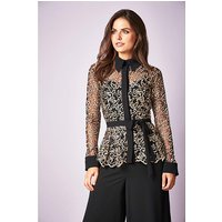 Gina Bacconi Lisa Embroidered Blouse