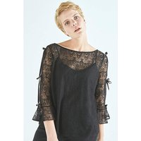 Elvi Black Lace Top