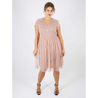 Lovedrobe Luxe Mauve Embellished Dress
