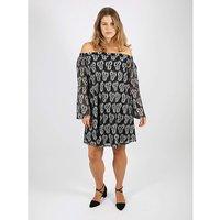 Lovedrobe GB Two Tone Lace Bardot Dress