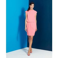 Roll Neck Double Layer Dress