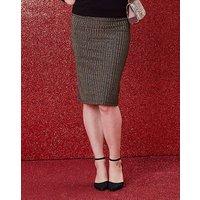 Gold Stripe Metallic Tube Skirt