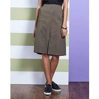 Stretch Split Front Skirt