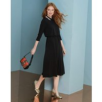 Black Plain Jersey Midi Dress