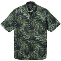 Label J Big Palm Print Shirt Long