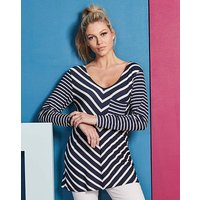 Navy/ White Chevron Stripe Top