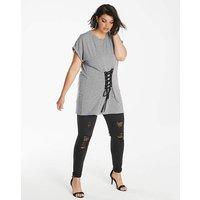 Grey Marl Corset T-shirt
