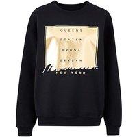 Black/ Gold Foiled Manhattan Sweatshirt