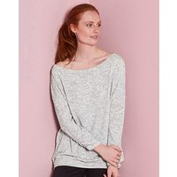 Snow Marl Space Dye Slouch Jersey Top