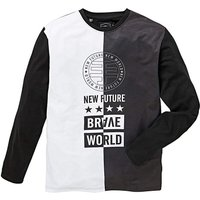 Label J LS Brave World Splice T-Shirt L