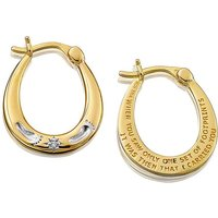 Gold Plated Footprints Creole Earrings