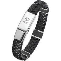 Leather Gents Initials Bracelet