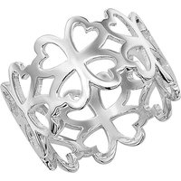 Cut-out Four-Leaf Clover Ring