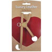 Wag N Walk Tan Leather Harness Xsmall
