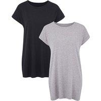 Black/Grey Pack of 2 Boyfriend Tshirts