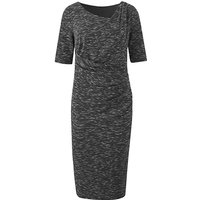 Marl Side Tuck Dress