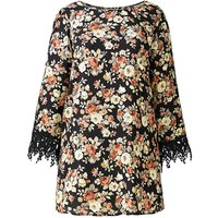 Alice And You Print Lace Cuff Blouse
