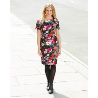 Scuba Floral Bodycon Dress