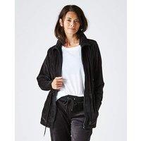 Velour Longline Zip Jacket