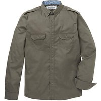 Jacamo Long Sleeve Khaki Military Shirt
