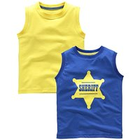 KD MINI Boys Pack of Two Vests (2-7 yrs)
