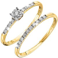 9 Carat Gold Set of 2 Diamond Rings