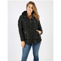 Lovedrobe black faux fur hood jacket