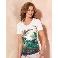 Palm Print T Shirt