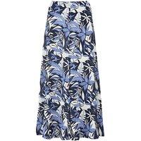 Print Slinky Skirt Length 32in