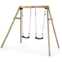 Plum Wooden Double Swing