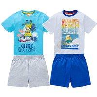 Boys Pack of Two Minions Pyjamas