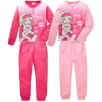 Girls Barbie Pack of Two Pyjamas