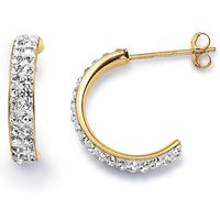 Crystal Glitz Half Hoop Earrings